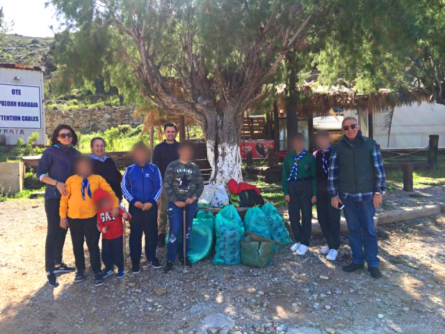 Beach cleanup at Niborio Symi